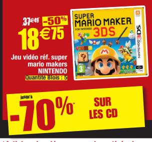 Super Mario Maker sur Nintendo 3DS - Blois / Caen (41 & 14)