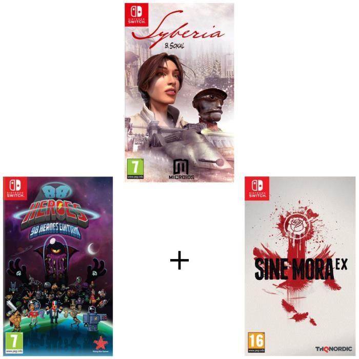 Sélection de packs de jeux vidéo Switch en promotion - Ex : 88 Heroes - 98 Heroes Edition + Sine Mora EX + Syberia