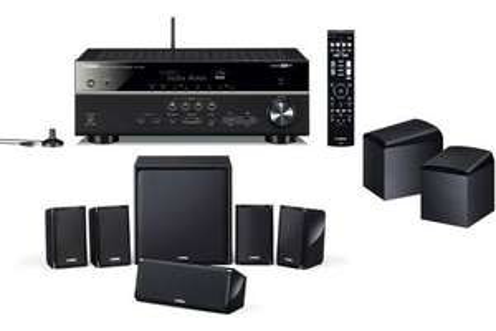 Pack Ampli Home-Cinéma 7.1 / 5.1.2 Yamaha RXV583 - Noir + Kit Enceintes 5.1 Yamaha NSP40 + Paire d'Enceintes Dolby Atmos Onkyo SKH410
