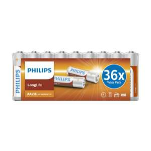 Lot de 36 piles Philips LongLife - LR06 AA ou LR03 AAA