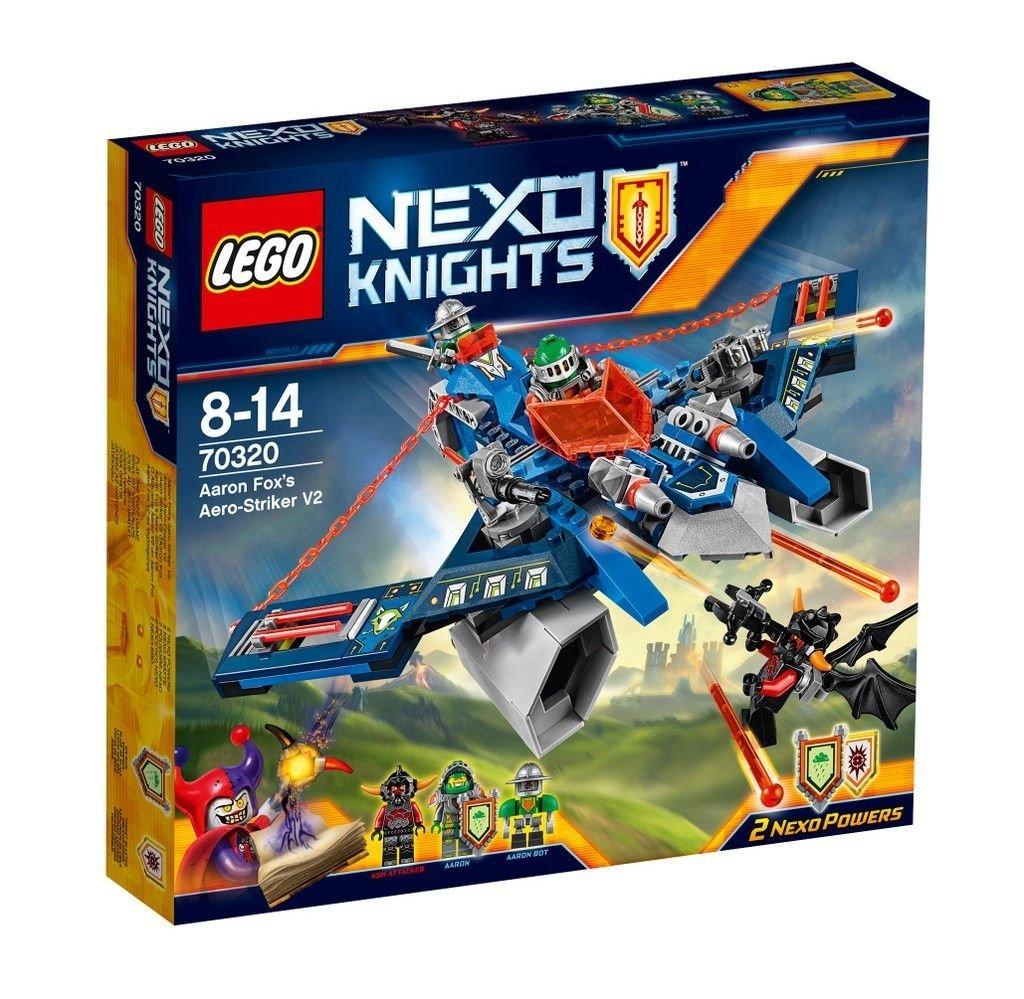 Sélection de Lego Nexo Knights en soldes - Exemple : L'Aero Striker V2 d'Aaron Fox - 70320
