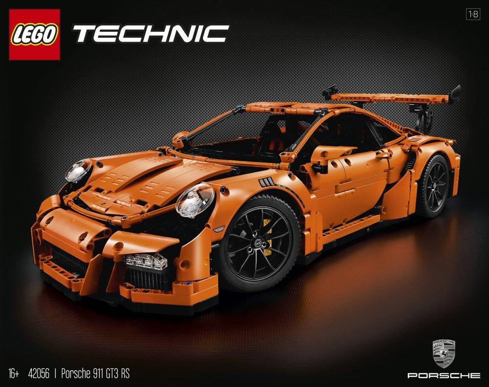 Lego Technic - 42056 Porsche 911 GT3 RS et Pelleteuse à godet 42055