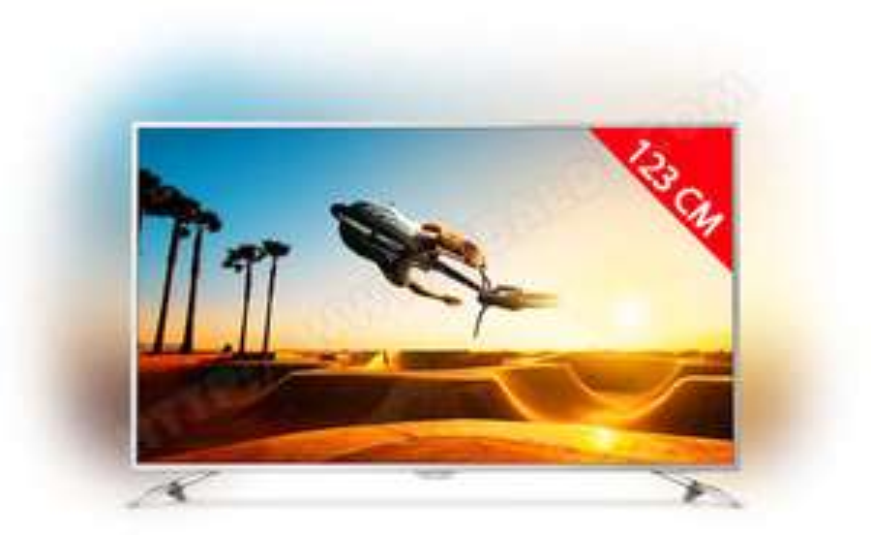 """TV LED 49"""" Philips 49PUS7272 4K Ambilight 3 côtés"""