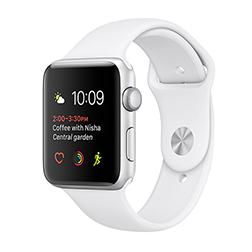Montre connectée Apple Watch Series 2 - Boitier 38 mm, aluminium argent ou gris sidéral, bracelet sport