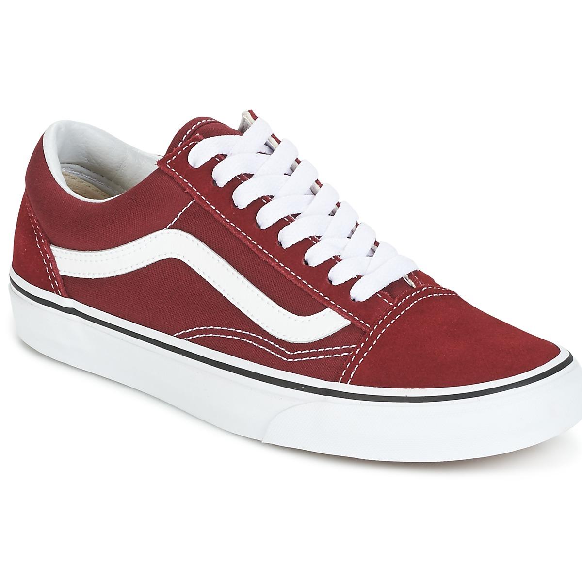 Chaussures Vans Old Skool - rouge/blanc