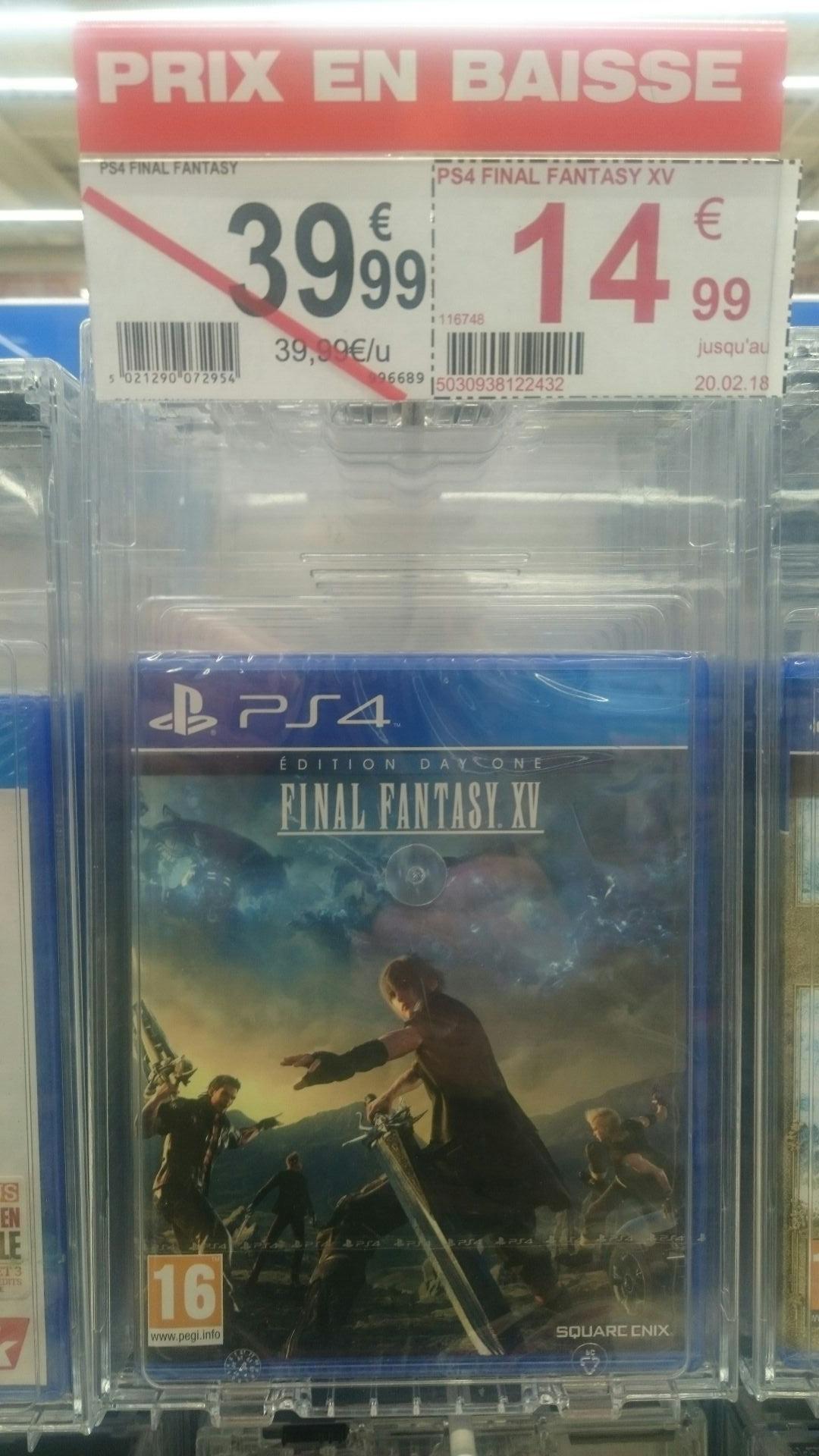 Sélection de jeux PS4 en soldes -  Ex : Final Fantasy XV Édition Day One - Auchan Le Pontet (84) Angers Avrillé (49)