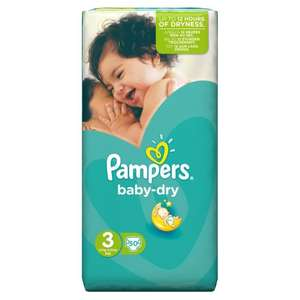 Pack de 50 couches Pampers Baby Dry Taille 3-4 / 9 kg