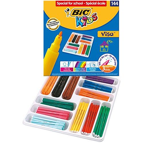 144 Feutres de Coloriage BIC Kids Visa