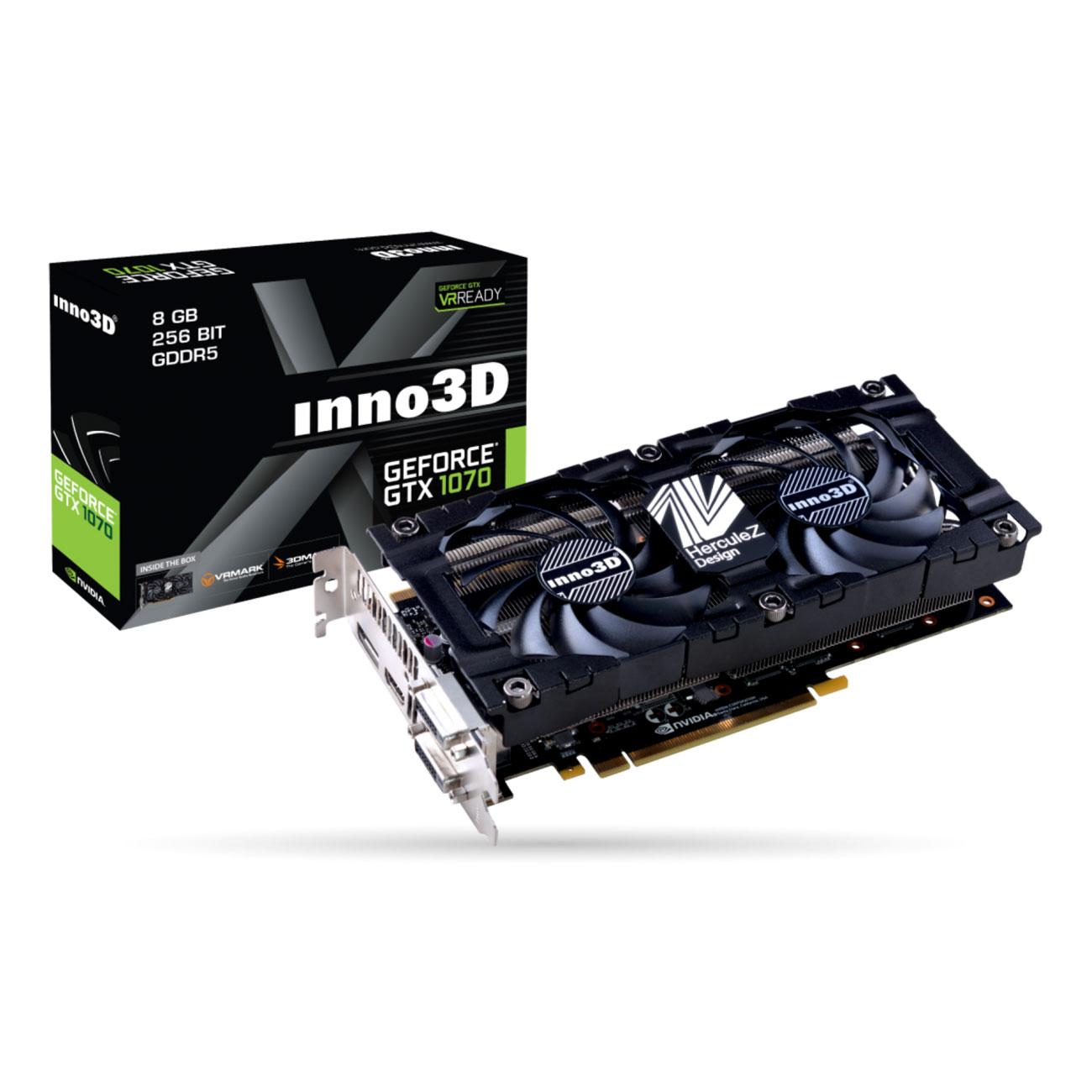 Carte graphique Inno3D GeForce GTX 1070 Twin X2 V3 - 8 Go DDR5 à