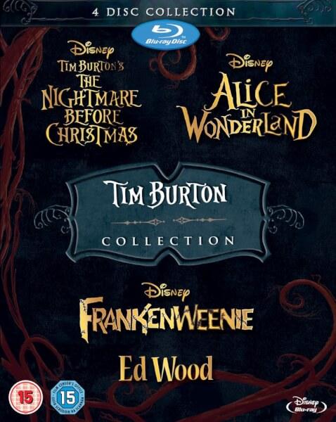 Coffret Blu Ray 4 films Tim Burton Collection