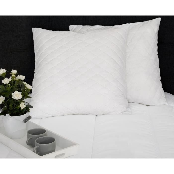 Lot de 2 oreillers à mémoire de forme Dormipur Dreamer 60x60cm