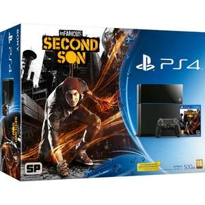 Pack Console Sony PS4 Playstation 4 + Jeu InFamous Second son