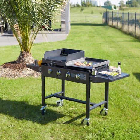 Barbecue 2 en 1 FAVEX gaz 4 brûleurs