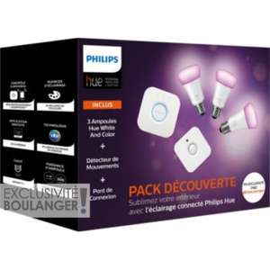 Pack démarrage Philips Hue - 3 ampoules White and Color + Motion Sensor - Tours Est - St Pierre Des Corps (37)