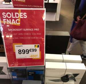 Tablette Microsoft Surface Pro i5 128 Go SSD + Type Cover - La Défense (92)