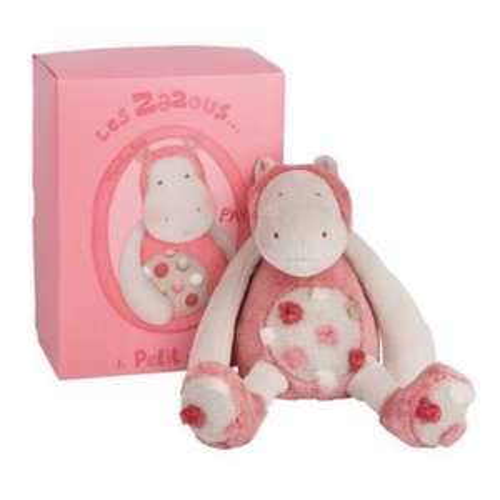 Peluche Petit Hippopotame Moulin Roty Les Zazous 23 cm