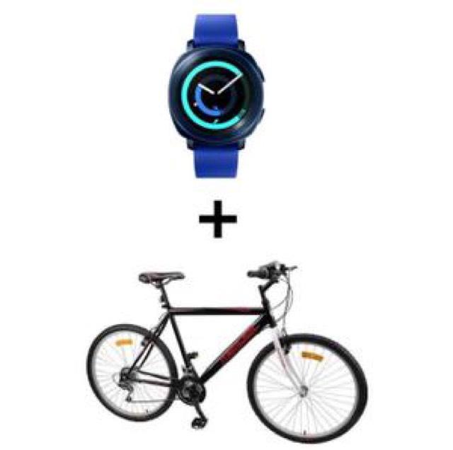[CDAV] Montre connectée Samsung Gear Sport Bleu ou Noire + Bracelet (via ODR de 50€) + VTT Mercier Homme ou femme