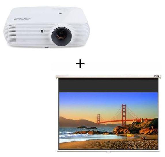 CDAV : Pack videoprojecteur Acer H5382BD + ecran 16/9 - 90'' (229cm)