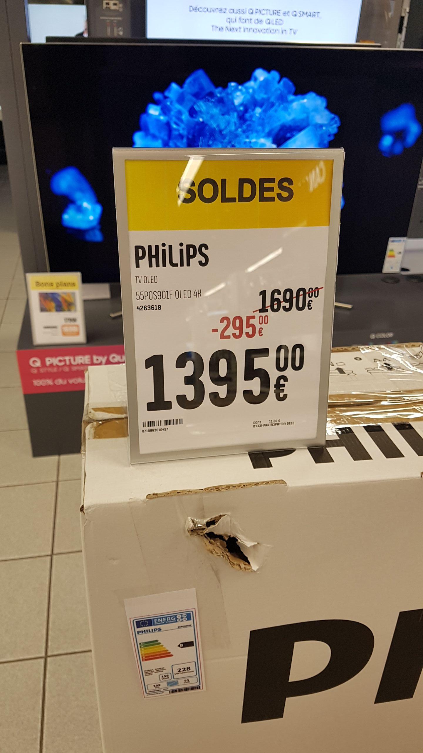 """TV 55"""" Philips oled 55POS901F 4K ambilight 3 cotés - Coquelles (62)"""