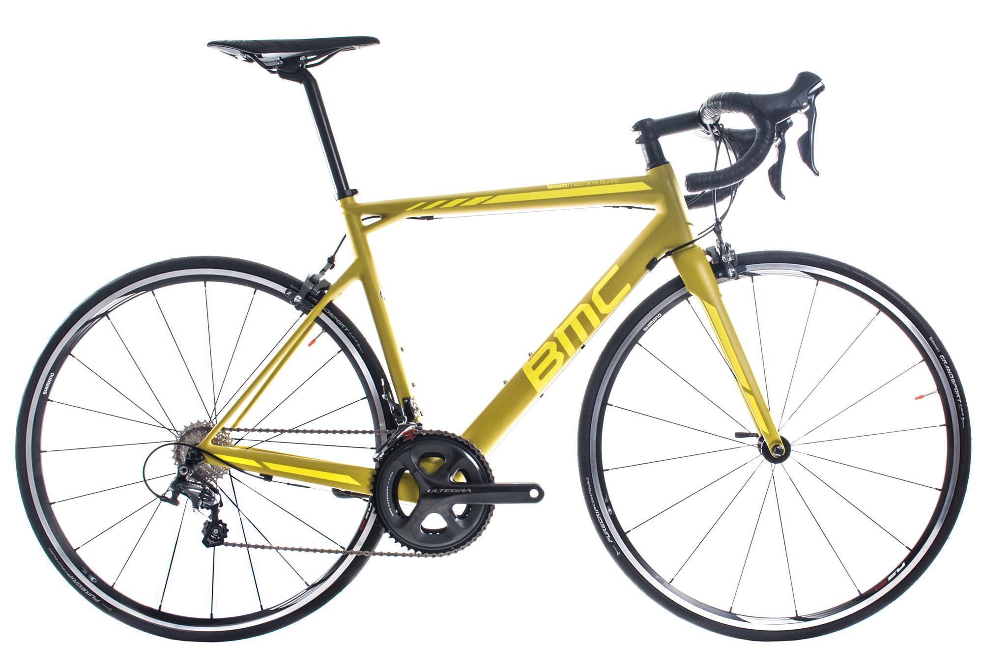 Vélo de route BMC TeamMachine SLR02 (2017) - Shimano Ultegra 11V, jaune (du 48 au 60 cm)