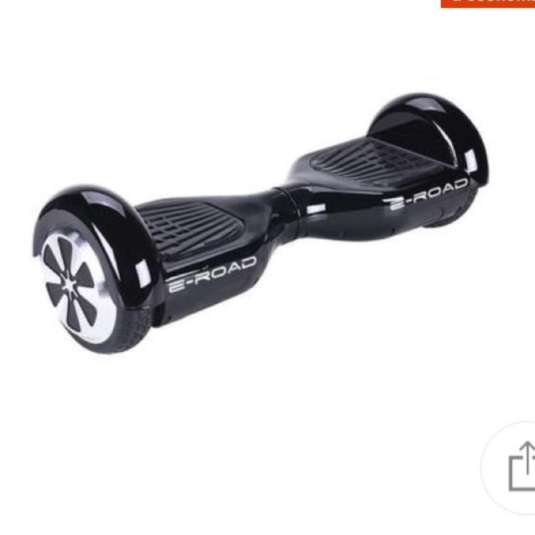 "Hoverboard 6,5"" E-ROAD noir Bluetooth avec sac"