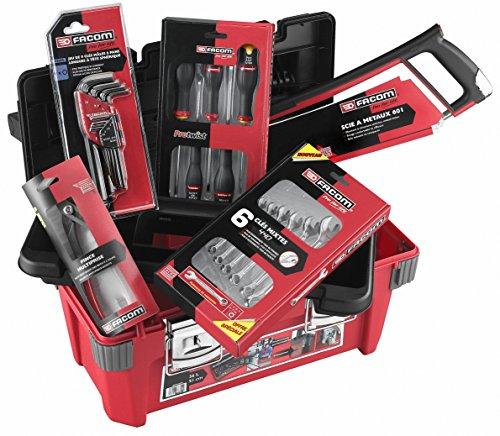 """Caisse à outils 20"""" Facom BP.P20PG - en polypropylène, 36 L, 22 pièces"""