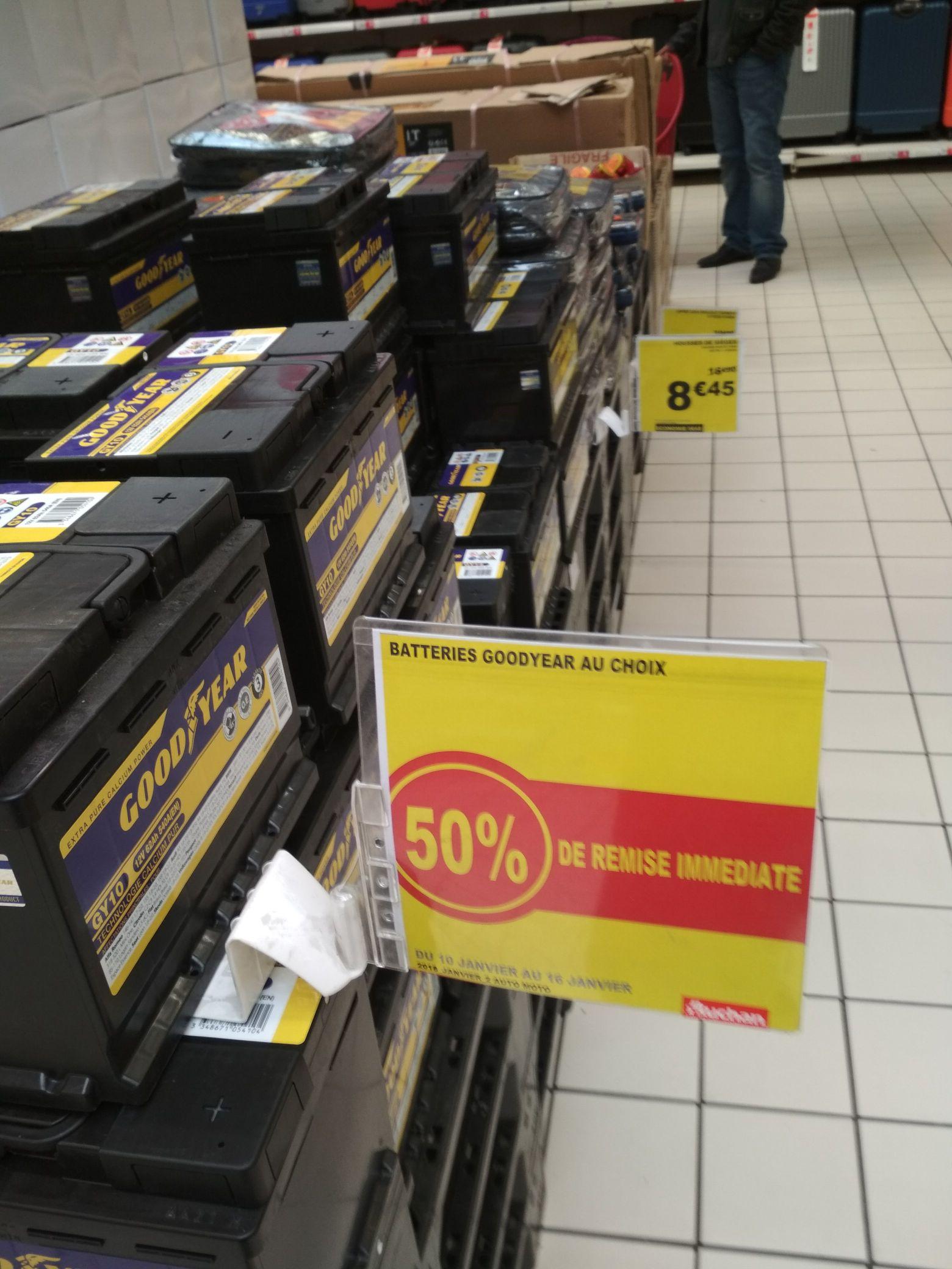 -50% sur une sélection de batteries auto Goodyear - Englos (59)