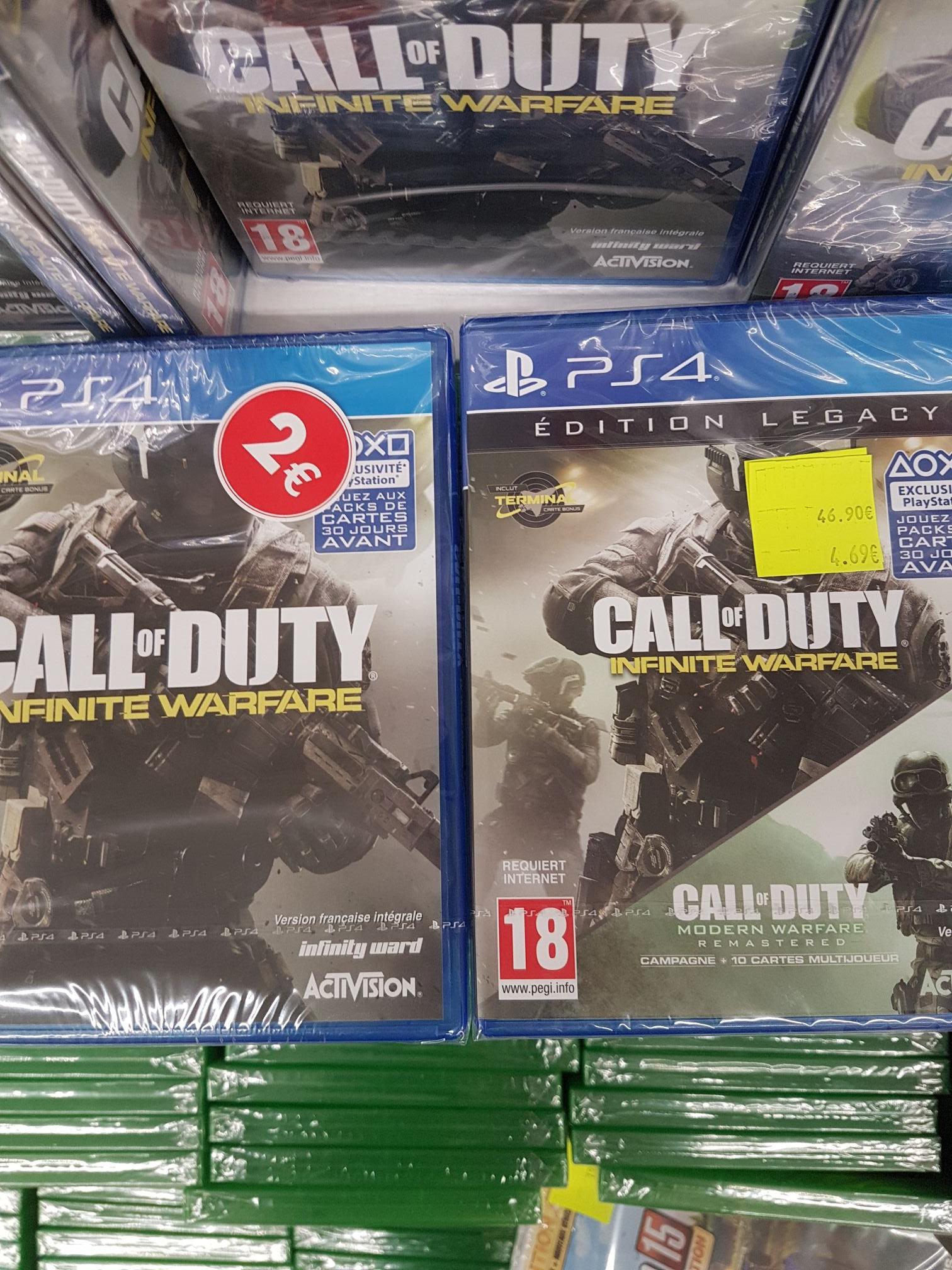 Sélection de jeux vidéo soldés - Ex : Call of Duty Infinite Warfare sur PS4 - Ferney (01)