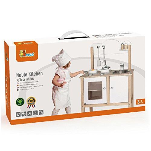 Jeu D'imitation - Viga Toys - 50223 - Cuisine Noble - Blanc