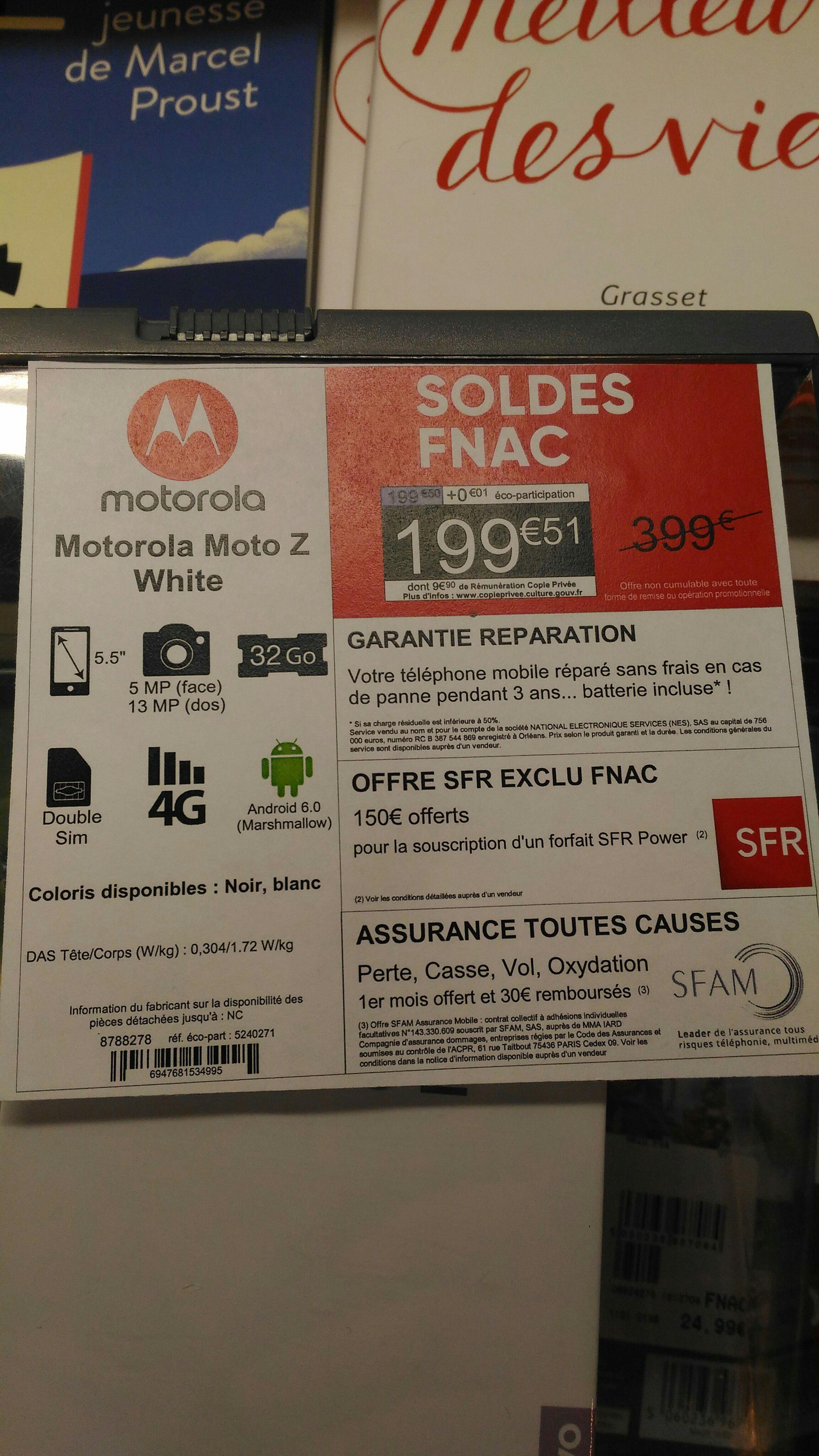 """Smartphone 5.5"""" Lenovo Moto Z White 32Go - Rouen (76)"""