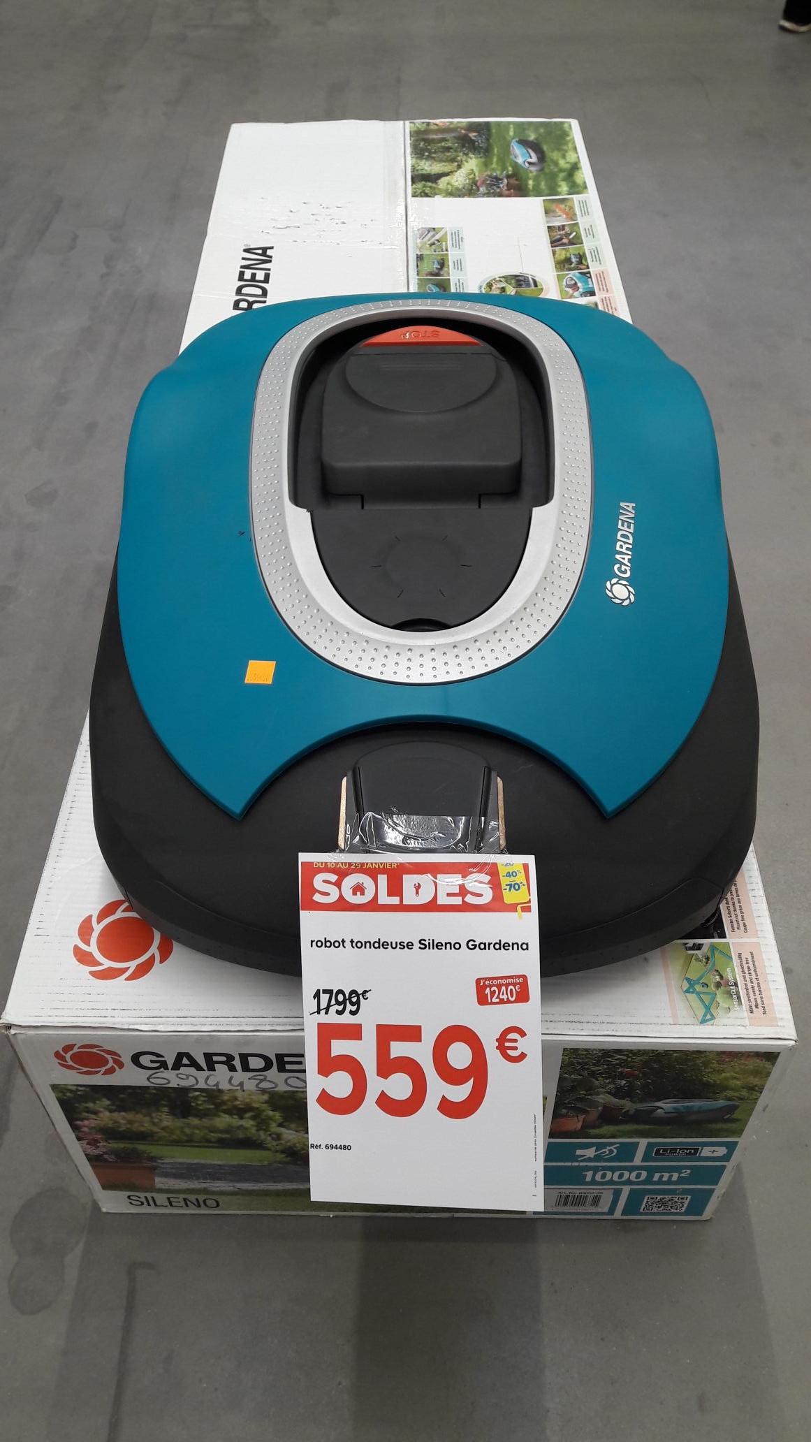 Robot tondeuse Gardena Sileno 22cm 18v - Bourg en Bresse -01)
