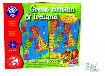 Puzzle et poster de la Grande Bretagne et de l'Irlande (Great Britain and Ireland puzzle and poster)