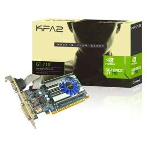 Carte graphique KFA2 GeForce GT 710, 1 Go - Low profile, single slot, HDMI