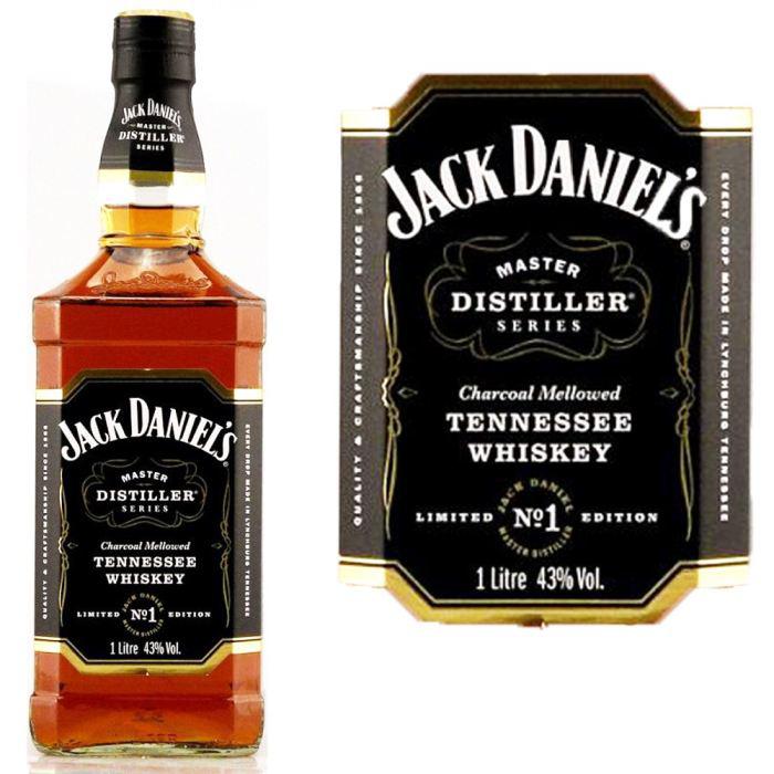 Lot de 2 bouteilles de Jack Daniel's 1L