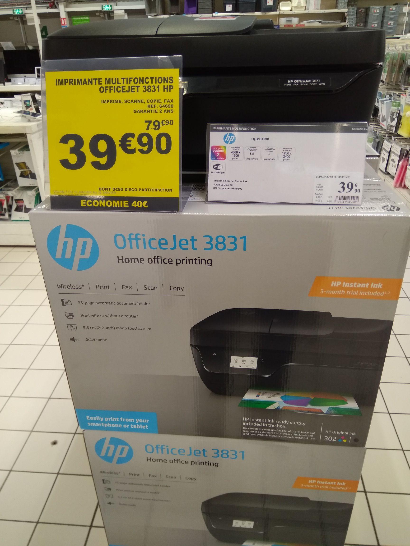 Imprimante jet d'encre HP OfficeJet 3831 - 3 mois InstantInk offerts - Osny (95)