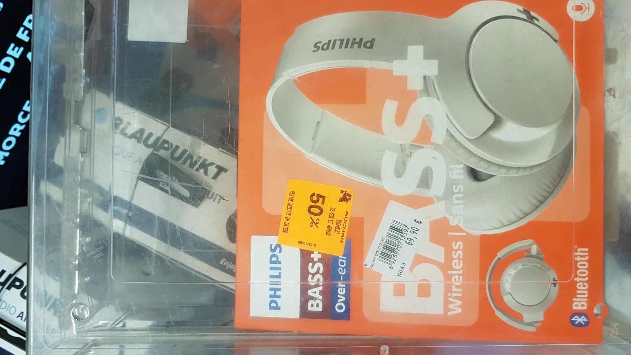 Casque Bluetooth Philips Bass+  -  Auchan Bagnolet (93)