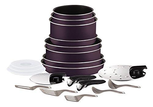 Set de poêles et casseroles Tefal L2029702 Ingenio 5 Essential Cassis Set 20 Pièces - Tous feux sauf induction