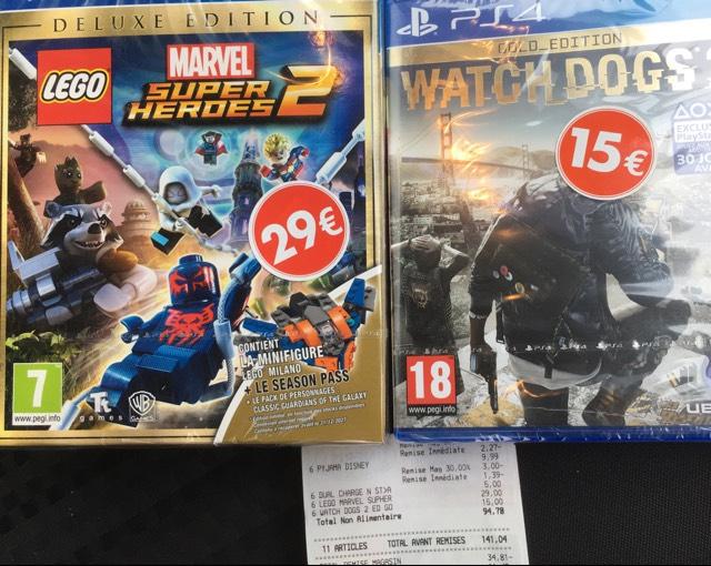 Sélection de jeux vidéo en promotion - Ex :Watch Dogs 2 Gold Edition sur PS4 - Bourges (18)