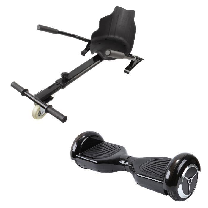 [Cdiscount à volonté] Pack Hoverboard et Kit Kart Moverace M6 noir