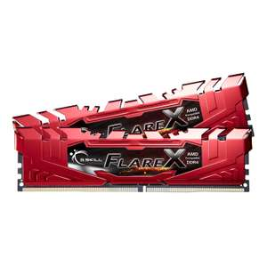 G.SKILL- Flare X 2 x 8 Go DDR4 2400 Mhz PC4-19200 1.2V rouge pour AMD Ryzen