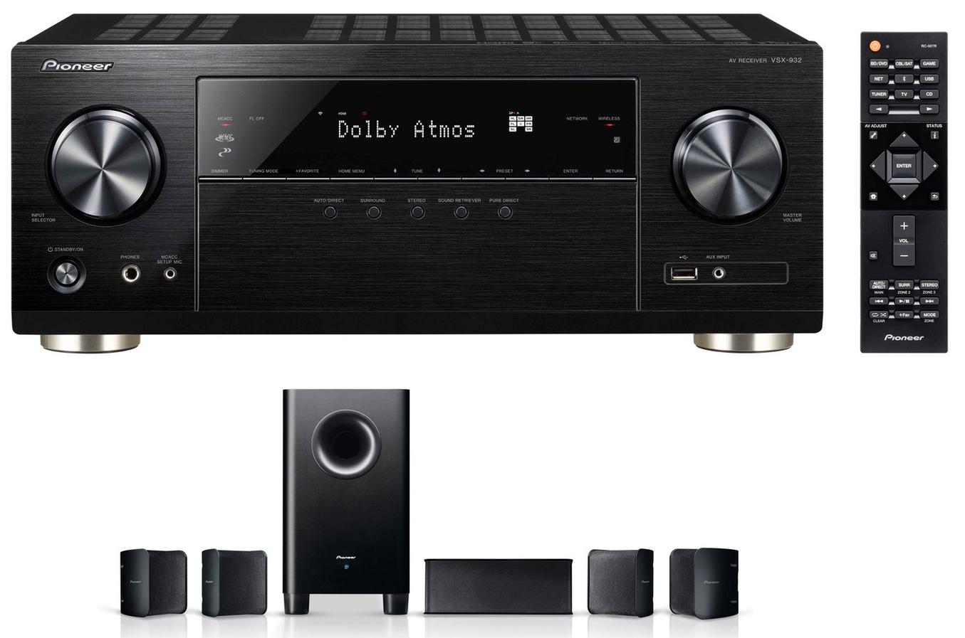 Ampli Home Cinéma Pioneer VSX932 + Pack d'enceintes 5.1 Pioneer S-HS100