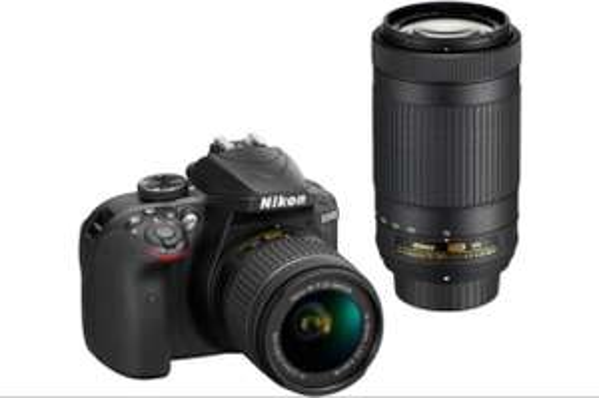 Reflex Nikon D3400 NOIR + AF-P 18-55MM VR + AF-P 70-300MM VR