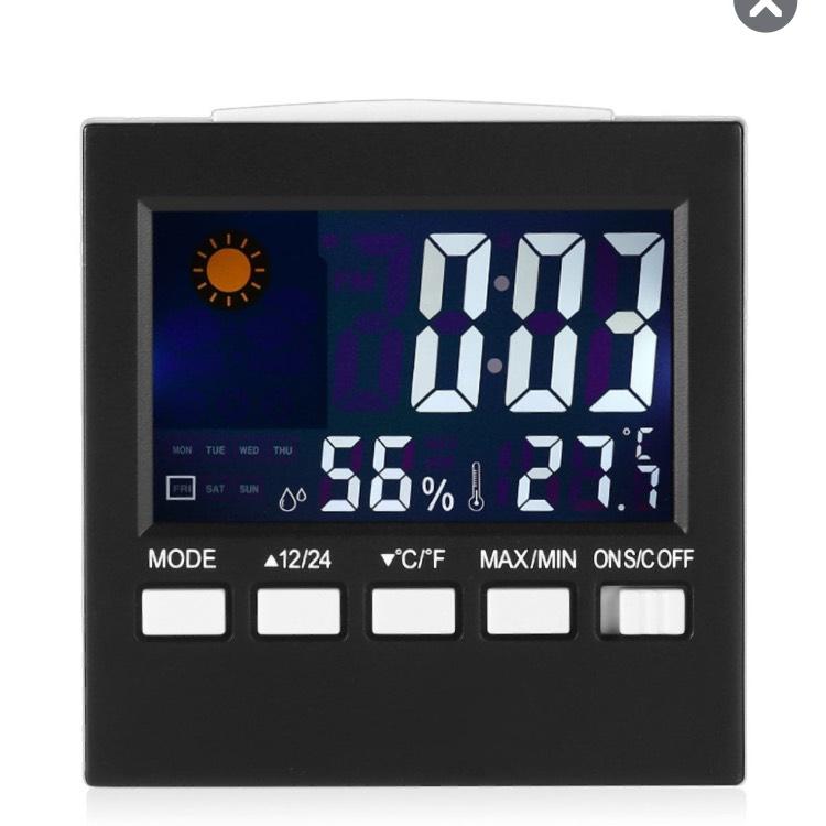 Réveil multifonctions avec écran LCD numérique