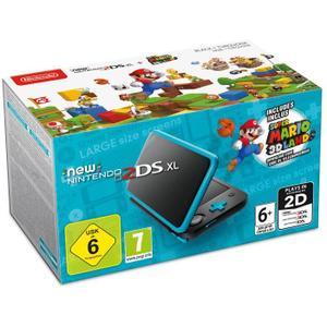 [Cdiscount à volonté] Console New Nintendo 2DS XL Noire et Turquoise + 1 Code de téléchargement Super Mario 3D Land