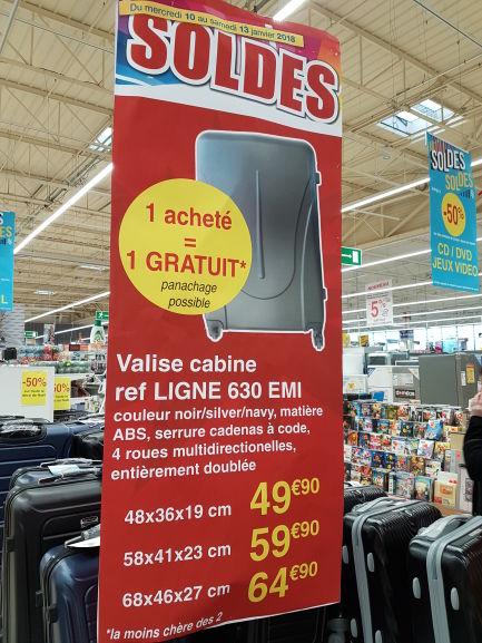 1 valise achetée = 1 gratuite - Ex : 2x 48x36x19 cm à 49.9€ - Caen (14)