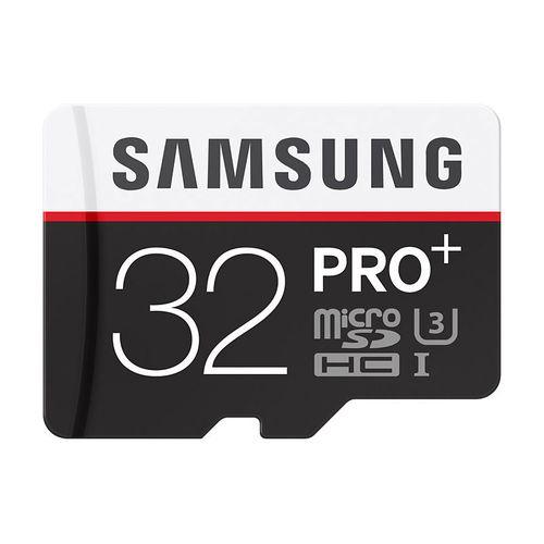 Carte Mémoire Micro SDHC PRO+ Samsung, 32 Go, Classe10 + Adaptateur SD