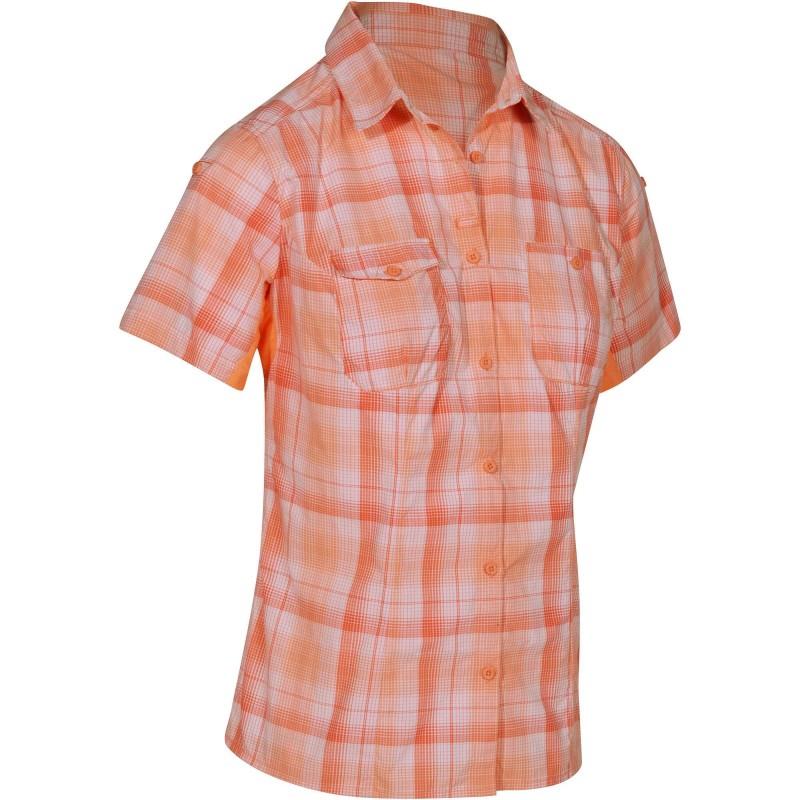Chemise manches courtes trekking Quechua Arpenaz 500 pour Femme - Orange
