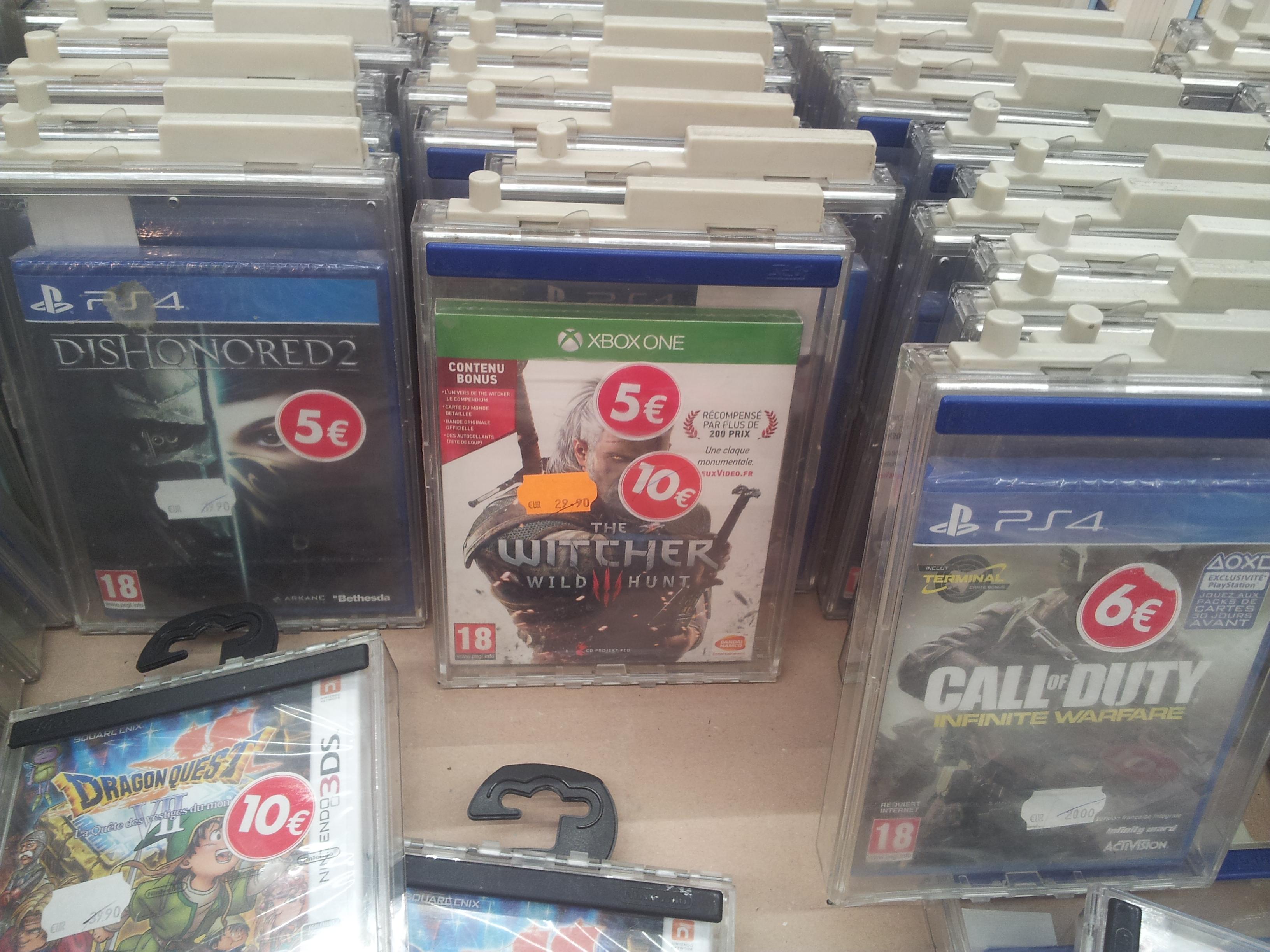 Sélection de jeux en promotion - Ex : The Witcher 3 a 5€, Dragon Quest VII a 10€ - Limay (78)