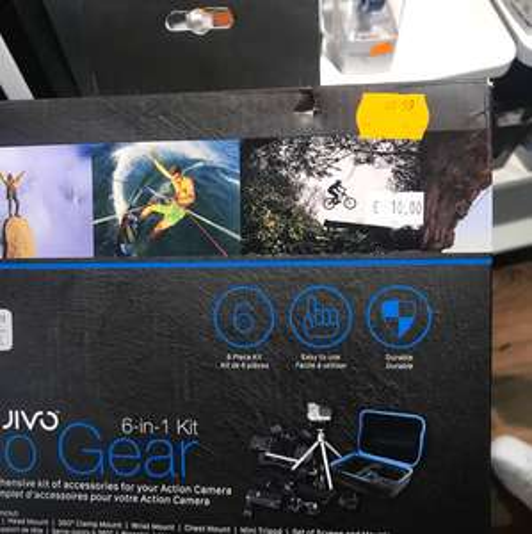 Kit de démarrage accessoires 6-en-1 Jivo Go Gear pour GoPro - Lanester (56)