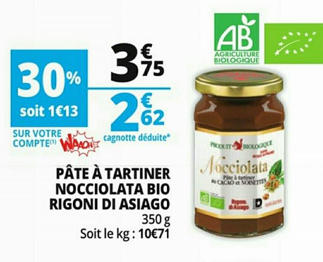 Pot de pâte à tartiner biologique Nocciolata Rigoni di Asiago - 350 g